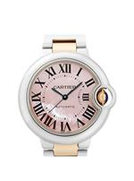 カルティエ 時計 バロンブルー  レディース ピンクシェル  買取価格