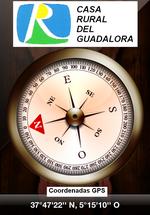 """Coordenadas GPS de la CASA RURAL DEL GUADALORA - Haz """"clic"""" en la imagen para ampliar."""