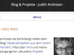 Screenshot der Ausgangsversion