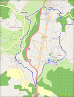 Le Tour du Vallon en VTT ------------- extrait OpenStreetMap.org