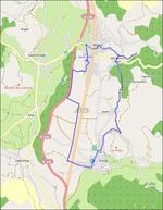 Le Chemin Napolélon en VTC ------- extrait OpenStreetMap.org