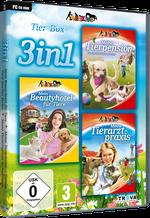 Packshot 3 in 1 Tier-Box: Meine Tierpension – Tapsige Tiere machen Ferien + Mein Beautyhotel für Tiere + Meine Tierarztpraxis in Australien