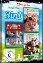 Packshot 3 in 1 Pferde-Box: Mein Gestüt + Die Reitakademie + Die Reitakademie – Das entscheidende Turnier