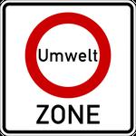 Verkehrszeichen 'Umweltzone'
