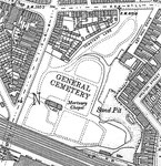 The General Cemetery - Ordnance Survey map 1903 now in the public domain, downloaded from Wikipedia from a scan by oosoom.