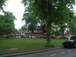 Kings Norton Green - the Bull's Head is visible behind the trees; the Saracen's is covered pending restoration 2007.