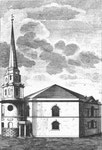 St Mary's, Whittall Street. Image from William Hutton 1783 An History of Birmingham, a work in the public domain.