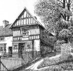 The Saracens Head - drawn in 1932. Grateful thanks and acknowledgements for the use of this image to E W Green, Historic Buildings in Pen & Ink - The Work of William Albert Green. See Acknowledgements.