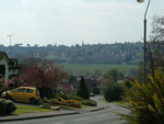 The New Hall estate looking down Sir Alfreds Way across the Plantsbrook valley.