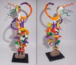Vibration - 2015 - papier sculpté - 0,68 m- Hommage à Sonia Delaunay- (coll. Part.)