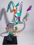 L'homme sans gravité- 0,62 m-papier sculpté