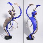 Chaman Bleu - 2010- 0,40 m- papier mâché-