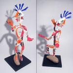 Le Jongleur de Mots -0,55 m- papier sculpté  2014 -  (coll.part.)