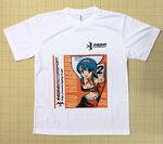 2号車のリアウィングの絵柄をデザインしたTシャツ
