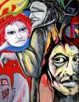 Faust,  Gretchen und Mephisto