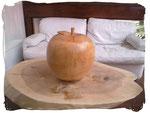 Apfel Ø ca. 27cm (Holzart Kirsche, gewachst)