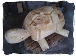 Schildkröte für Spielplatz ca. 140cm (Holzart Pappel, geölt)