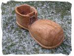 Schuh zum Bepflanzen Schuhgröße ca. 60cm  (Holzart Eiche, geölt)
