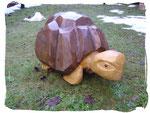 Schildkröte ca. 60cm (Holzart Eiche, zweifarbig lasiert)
