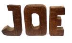 rustikale Holzbuchstaben...