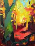 Herbstwald/Licht 130x100 cm verk./ sold