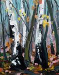 Birken/ Herbst 100x80 cm