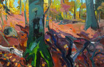 Herbstwald 2tlg 130x200 cm verk/ sold