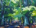 Waldbild Sommer 100x130 cm