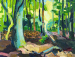Sommerwald 100x130 cm verk/ sold