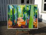 Sommerwald 100x130 cm