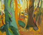 Herbstwald 80x100 cm