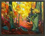 Herbstwald 100x130 cm verk/sold