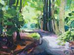 Licht Frühlingswald 100x130 cm