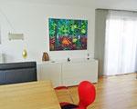 Waldbild 100x130 cm verk/sold