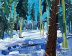 Winterwald 100x130 cm