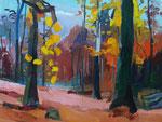Hebstwald 2015 100x130 cm  verk./sold