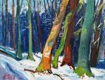 Winterwald 100x130 cm, verk./sold