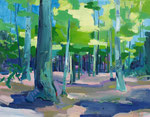 Frühlingswald 100x130 cm verk/sold