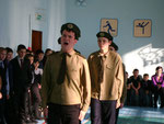 "17.02.12. ""Юный патриот"". Команда 11а класса."