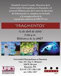 Fragmentos exhibition (2010)