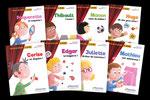 """Une série de 10 livres, relatant la vie scolaire de nos tout petits dans la collection  """"Petites histoires à jouer"""" chez Bourrelier éducation."""