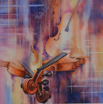 Les violons 50x50