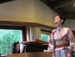 Unser zweiter Mezzosopran Orine Nozaki bei ihrem Soloauftritt