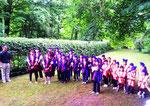 Der Chor bekam Konkurrenz durch die Kinder der Japanischen Internationalen Schule, die ebenfalls deutsche und japanische Lieder vortrugen