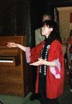 Unter dem einfühlsamen Dirigat von Frau Naoko Fukumoto...