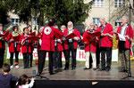 Auftritt am Festplatz Seehof, einfühlsam dirigiert wegen Verhinderung unserer Chorleiterin...