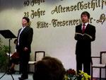 Auftritte der Solisten: Unser Chorleiter Soichi Kobayashi und Yuji Natsume