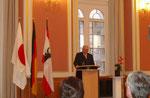 Der Präsident der DJG Berlin, Herr Kurt Görger, bei der Begrüßung