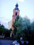 Unser Auftrittsort, die evangelische Kirche in Buckow