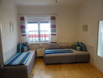 Wohnzimmer Appartement Steingarten (optional 2 Zusatzbetten)